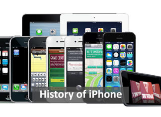 history of iphone