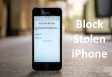 how to block stolen iphone