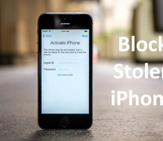 how to block stolen iphone
